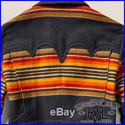 $1200 RRL Ralph Lauren 1950s Western Ranch Stripe Wool Blend Sport Coat-MEN- L
