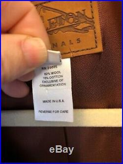 17. Pendleton Originals Western Wear Jacket Native M Blanket Coat Bone Buttons