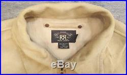 $1800 Ralph Lauren RRL Western Sheep Suede Leather Cordova Jacket Size Medium