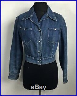 1950's Levis Western Women's Denim Shirt-Chambray Jacket Pearl Snaps VTG Med