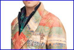 $2,995 Polo Ralph Lauren Colorado Southwest Western Wrap Robe Trench Coat Jacket