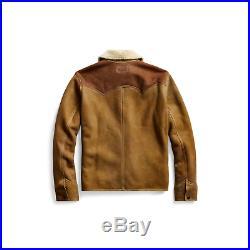 $2900 RRL Ralph Lauren Suede Western Shearling Rancher's Leather Jacket L Large