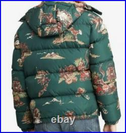 $398 New Polo Ralph Lauren Small Green Rodeo Western Puffer Down Jacket RRL Coat