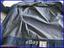 50s The Great Western Garment GWG 1955 vintage denim work jacket donut buttons