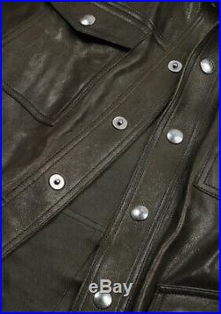 $6.500 PreOwned TOM FORD Olive Green Western Leather Coat Size 48 / 38R Jacket