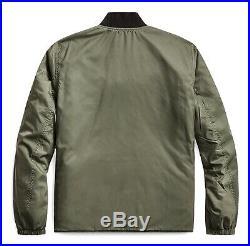 $690 RRL Ralph Lauren Western Embroidered Reversible Quilted Jacket-MEN- M