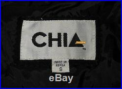 80's Fringe Jacket Chia Black Suede Western Style Rocker Chic Metal Lady's Small