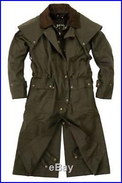 Australian Style Drover Outdoor Wachs Öl Mantel- wasserabweisend bis 5XL