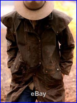Australian Style Drover- Wachs Öl Mantel Long Rider 3-in-1- wasserabweisend