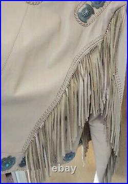 BEAUTIFUL Cripple creek Tan leather western coat/ jacket sz XXL