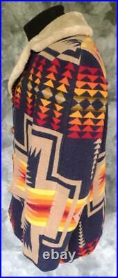 BEST Vintage PENDLETON Western Wear WOOL BLANKET COAT Jacket NAVAJO Indian 44