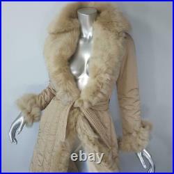 Benedetta Novixsitalian Beige Genuine Real Shearling Sheepskin Fur Coat Jacket