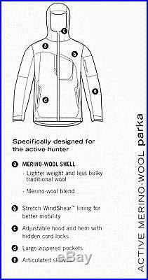 Cabela's Zonz Western Zonz Woodlands Active Merino-Wool Windshear Hunting Parka