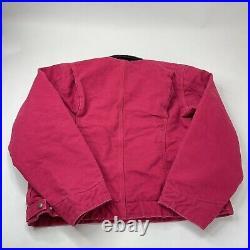 Carhartt WJ097 SCA Women Jacket Large Detroit Sherpa Lined Sandstone Bomber Coat