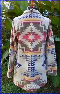 Cowgirl gypsy aztec blanket jacket Southwestern boho Western warm XL