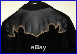 Cripple Creek Black Embroidered Leather & Suede Western Coat Jacket Size M
