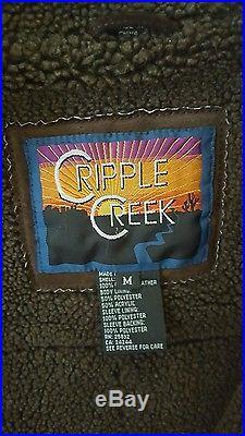 Cripple CreekMENS MJacket/CoatBeaded Western Real Suede & Leather w Fleece