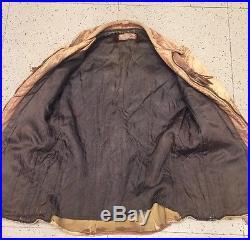 DISTRESSED Vintage FRINGE LEATHER WESTERN JACKET COAT