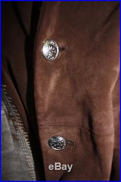 Donald J. Pliner Brown Suede Jacket Limited Edition! Italy Sz 50 Western Coat M