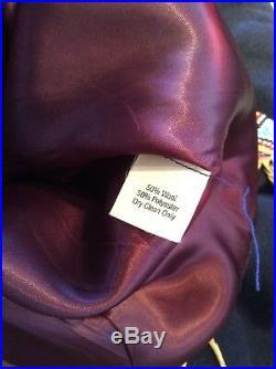 Double D Ranch Wear Wool Military Blazer Jacket Beads Fringe Sz L DD Western