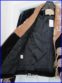 Double D Ranchwear Women's Western Jacket Coat Embellished Blue Size S NWT