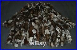 FOX FUR Silver Coat Jacket Coat Pelz Pelliccia argentata Silberfuchs Echt Mantel