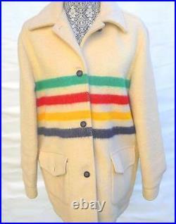 Fantastic Vintage Hudson Bay 4 Point Blanket Coat Jacket