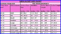 Fashion Runway Men Cowhide Leather Western Jacket-Coat Sizes XS 6XL