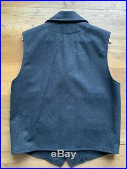 Filson Western Vest Charcoal Mackinaw Wool Gr. L