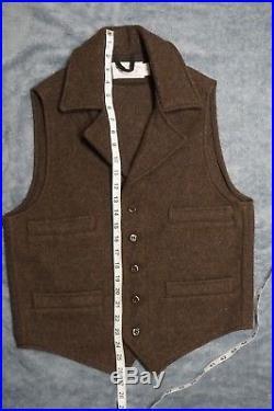 Filson Western Wool Vest Small Brown