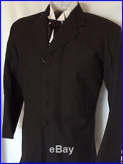 Frontier Classics Tombstone Western Black Lightweight Frock Coat, size 42-48