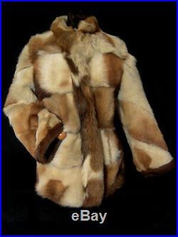 Genuine Fur coat jacket Cowboy Western spotted rare design