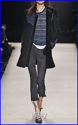 ISABEL MARANT'Fergie' shearling cowgirl western style coat jacket FR38