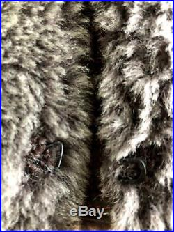 ISABEL MARANT veste JACKET CUIR LAMB FUR S 36-38 UK 6-8 SHEARLING S WESTERN