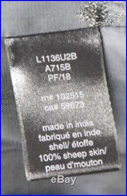 John Varvatos Mens Sheep LEATHER WESTERN SHIRT JACKET Size M NWD $798 Current