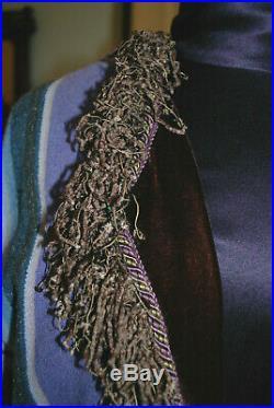 Karen Wilkinson Western Art to Wear Santa Fe Serape Coat M Purples