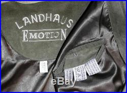 LANDHAUS LEATHER JACKET Coat BROWN Women German Winter Hunting Western B54 2XL