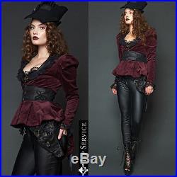 Lip Service Tailcoat Steampunk Victorian Gothic Jacket Pirat Western Goth Coat