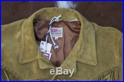 LVC Levis Vintage Clothing 50s Mens Suede Fringe Short Horn Western Jacket Boho