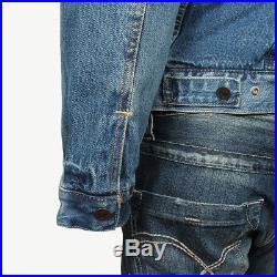 Levi's Herren Jeansjacke Jeans Jacke warm Type 3 Sherpa Trucker Needle Park Blau
