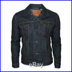 Levi's Herren Männer Jeansjacke Jeans Jacke The Trucker Jacket Rinse Blau Navy