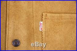 Levi's LVC Leather Waistcoat Vest Shorthorn Western Levi Suede Leather Levis