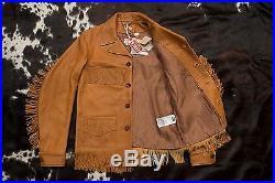 Levis Vintage Clothing LVC Fringe western Leather Coat jacket unreleased BNWT