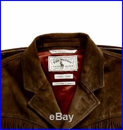 Limited Ed. RRL Double RL Ralph Lauren Men Fringed Western Cowboy Leather Jacket