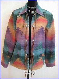 M Ralph Lauren WOMEN Coat JACKET Southwestern AZTEC Indian USA Western CONCHO