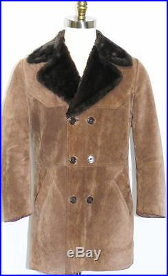 MADE In ITALY LEATHER OVER COAT Men Hunting Western Winter Jacket Eu 50 44 M