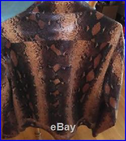 Men's Designer Couture Western Cowboy Style Snake Skin Jacket Mint