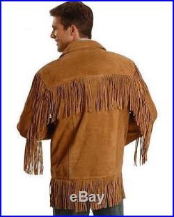 Mens Scully Leather Buckskin Suede Fringe Coat Western Wear Jacket Nwot Size 50