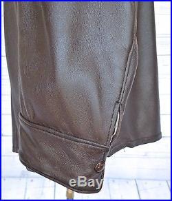MID-WESTERN SPORT TOGS DEERSKIN Pullover Leather SHIRT VINTAGE JACKET Coat 46LG