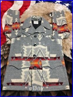 MINT Vtg 60s 70s Pendleton Wool Indian Blanket Chief Joseph Aztec Jacket Large